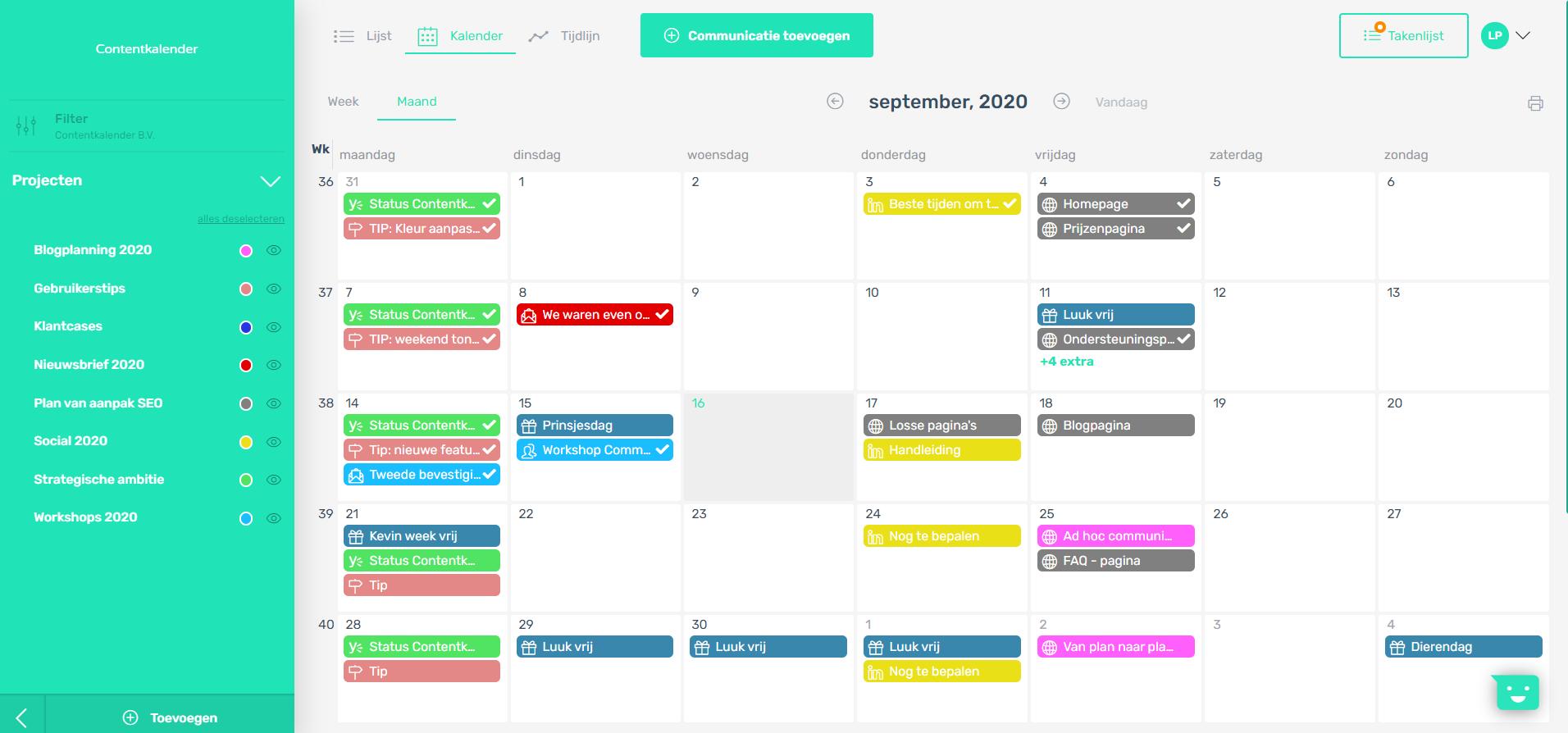 Projecten geven je communicatieplanning kleur