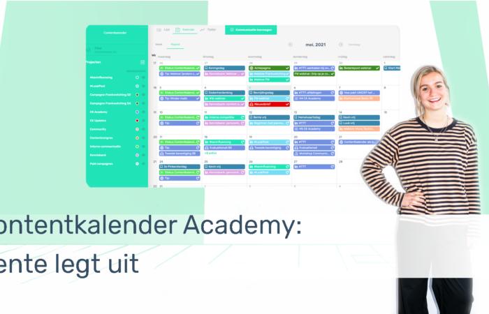 Standaard Thumbnail Contentkalender Academy