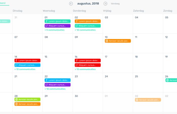 Contentkalender - Contentkalender voorbeeld 1